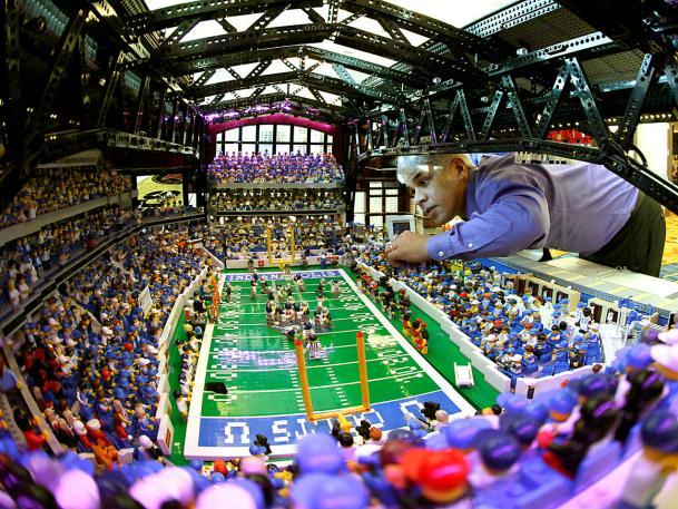 Super Bowl Stadium Made from LEGOS – Retrenders