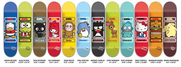 The Girl Skateboards Company x Sanrio – Retrenders 7bdae5d1498