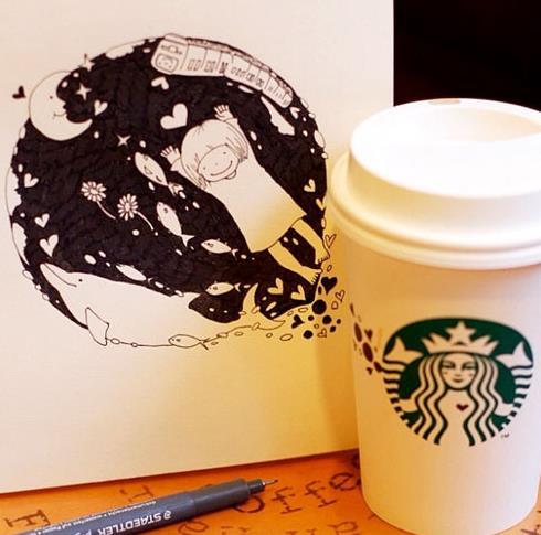 starbucks doodling 00