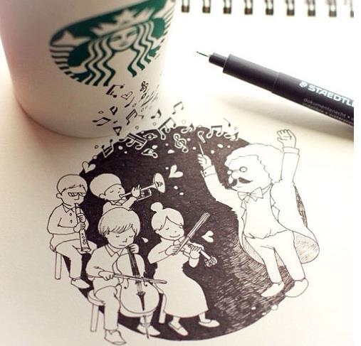 starbucks doodling 01