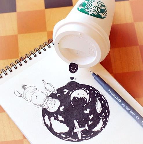 starbucks doodling 02