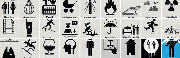 pictogram poster headline