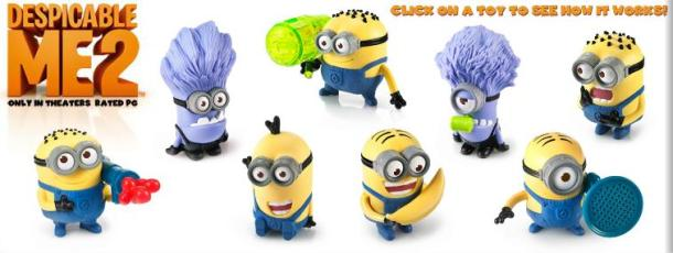happy meal despicable me 2 toys