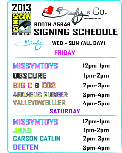 SDCC signing schedule
