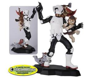 storm trooper ewok attack statue