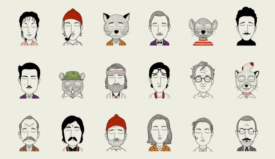 Drawings Of Wes Anderson Movie Characters Retrenders